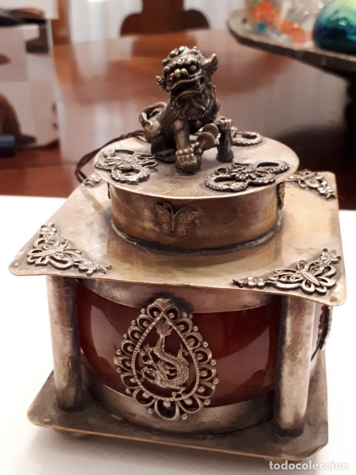EXCEPCIONAL TINTERO CHINO ANTIGUO (Antigüedades - Varios)