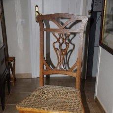 Antigüedades: SILLA MODERNISTA DE ROBLE PARA RESTAURAR. Lote 141898674