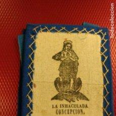 Antigüedades: ANTIGUO ESCAPULARIO DE LA INMACULA CONCEPCIÓN. 8 X 6,50 CM. Lote 141902306