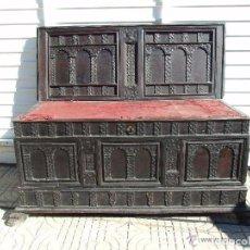 Antigüedades: ARCA, CAJA DE NOVIA CATALANA DE VIC S. XVII , PARA RESTAURAR. Lote 148675857