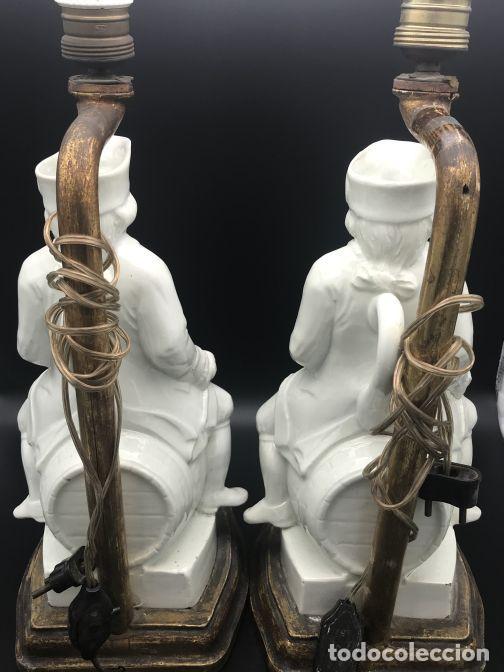 Antigüedades: Pareja de lámparas de cerámica de Manises - Foto 3 - 141937222