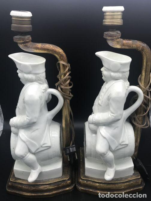 Antigüedades: Pareja de lámparas de cerámica de Manises - Foto 4 - 141937222