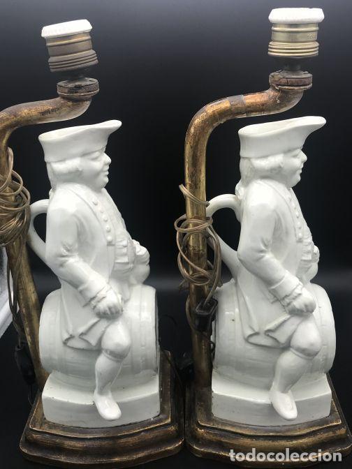 Antigüedades: Pareja de lámparas de cerámica de Manises - Foto 2 - 141937222