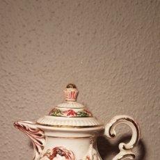 Antigüedades: JARRA TETERA DE PORCELANA ITALIANA CAPODIMONTE AÑOS 60/70. Lote 141971408