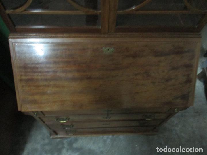 Antigüedades: Escritorio - Vitrina, Librería - Estilo Victoriano - Madera de Caoba - Años 40 - Foto 11 - 142020958