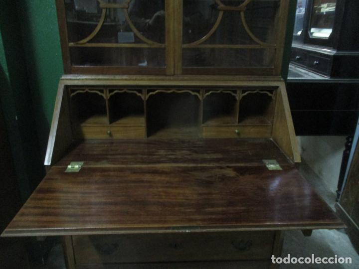 Antigüedades: Escritorio - Vitrina, Librería - Estilo Victoriano - Madera de Caoba - Años 40 - Foto 16 - 142020958