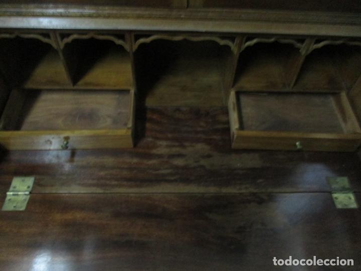 Antigüedades: Escritorio - Vitrina, Librería - Estilo Victoriano - Madera de Caoba - Años 40 - Foto 19 - 142020958