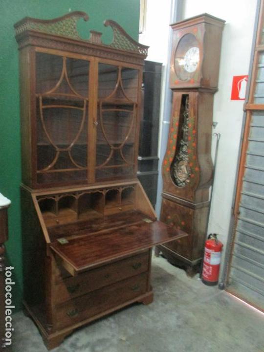 Antigüedades: Escritorio - Vitrina, Librería - Estilo Victoriano - Madera de Caoba - Años 40 - Foto 22 - 142020958