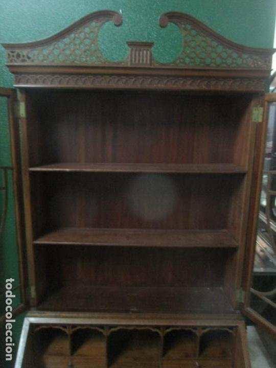 Antigüedades: Escritorio - Vitrina, Librería - Estilo Victoriano - Madera de Caoba - Años 40 - Foto 25 - 142020958