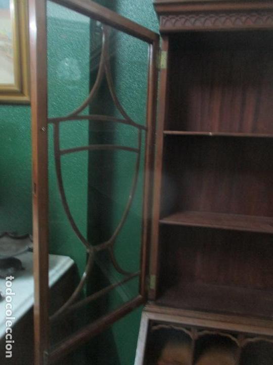 Antigüedades: Escritorio - Vitrina, Librería - Estilo Victoriano - Madera de Caoba - Años 40 - Foto 27 - 142020958