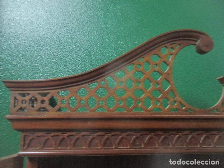 Antigüedades: Escritorio - Vitrina, Librería - Estilo Victoriano - Madera de Caoba - Años 40 - Foto 28 - 142020958