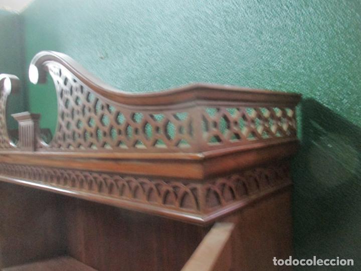 Antigüedades: Escritorio - Vitrina, Librería - Estilo Victoriano - Madera de Caoba - Años 40 - Foto 33 - 142020958