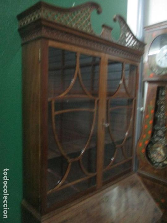 Antigüedades: Escritorio - Vitrina, Librería - Estilo Victoriano - Madera de Caoba - Años 40 - Foto 38 - 142020958