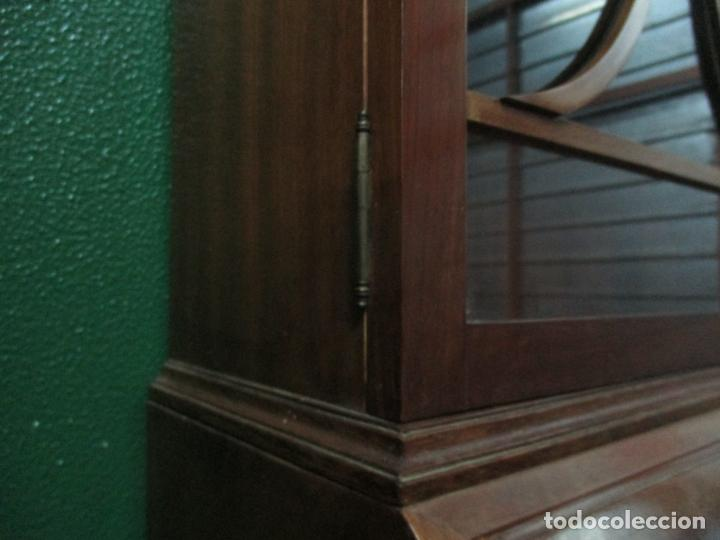 Antigüedades: Escritorio - Vitrina, Librería - Estilo Victoriano - Madera de Caoba - Años 40 - Foto 39 - 142020958