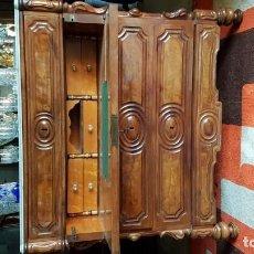 Antigüedades: CÓMODA ESCRITORIO DOBLE DELADITADA EN CAOBA. Lote 142029166
