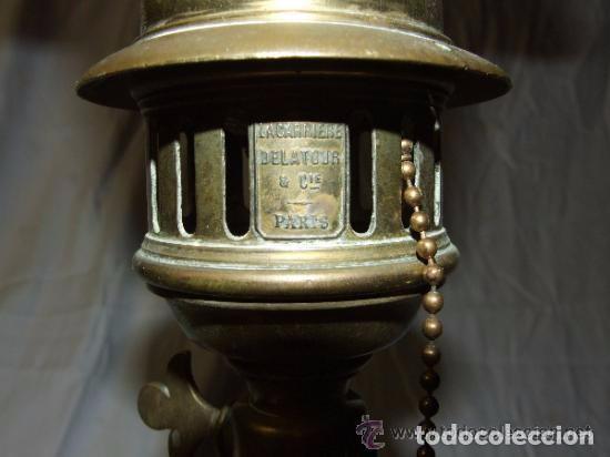 Antigüedades: LAMPARA MODERNISTA EN BRONCE DE SOBREMESA - Foto 6 - 142037002