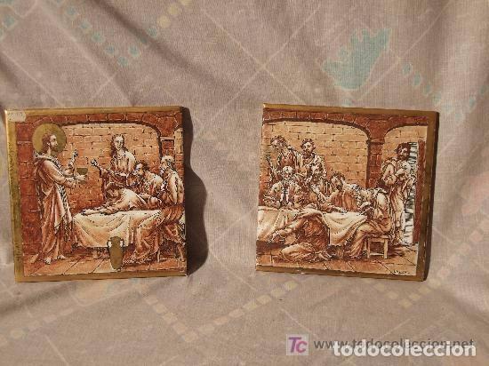 Antigüedades: AZULEJOS CERAMICA SANTA CENA, FDO. J. HOMS,ALCORA - Foto 3 - 142040142