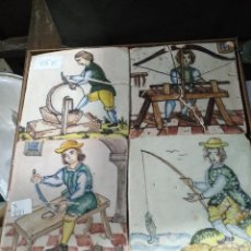Antigüedades: CUADRO AZULEJOS. Lote 142049038