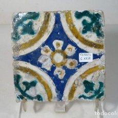 Antigüedades: AZULEJO DE TERUEL S.XVIII 12X12CM. Lote 142070830