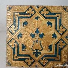 Oggetti Antichi: AZULEJO CE CARTÓN PARA DECORACIÓN DE MUEBLES O TECHOS. 20X20. FÁBRICA HERMENEGILDO MIRALLES. Lote 142076494