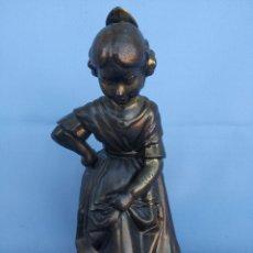 Antigüedades: ESCULTURA FALLERA BRONCE. Lote 142105225