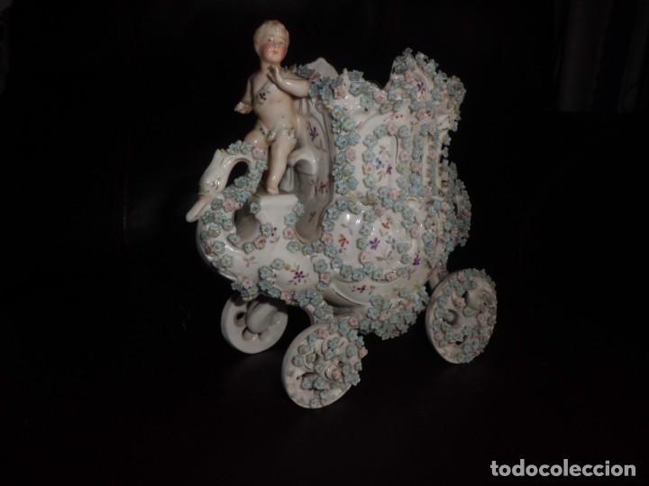 ESPECTACULAR PORCELANA ALEMANA, FF. SIGLO XIX (Antigüedades - Porcelana y Cerámica - Alemana - Meissen)
