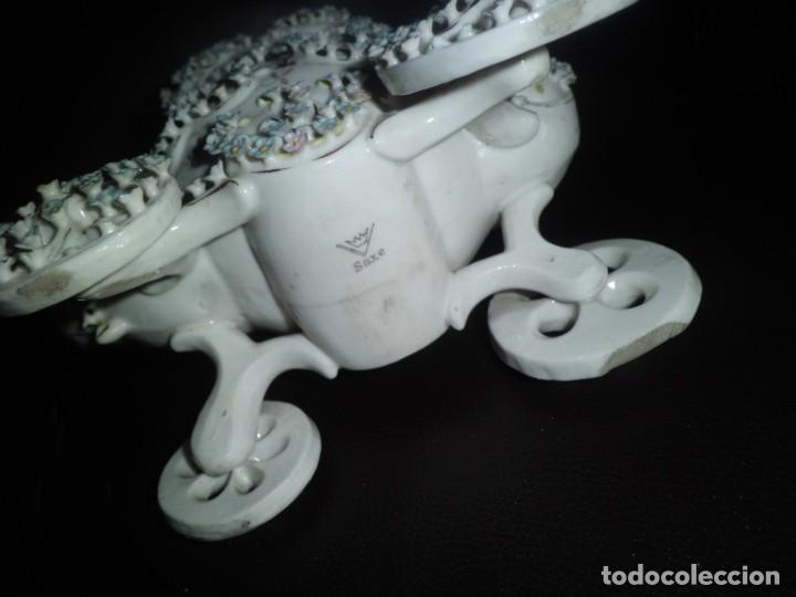 Antigüedades: ESPECTACULAR PORCELANA ALEMANA, FF. SIGLO XIX - Foto 3 - 142111698