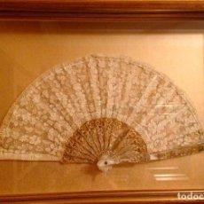 Antigüedades: ABANICO ENCAJE/NÁCAR. Lote 142112742