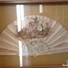 Antigüedades: ABANICO SEDA/NÁCAR. Lote 142112794