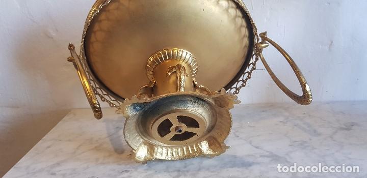 Antigüedades: CENTRO DE MESA FRUTERO EN BRONCE - Foto 7 - 142115778