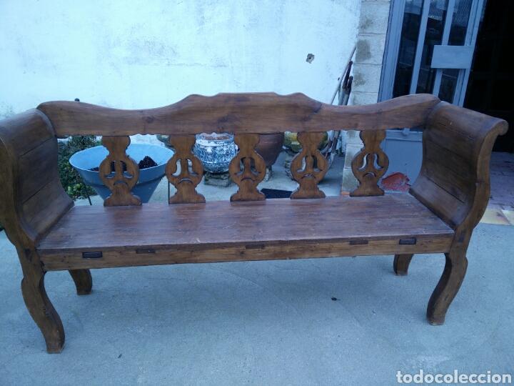 BANCO TALLADO (Antigüedades - Muebles Antiguos - Sofás Antiguos)