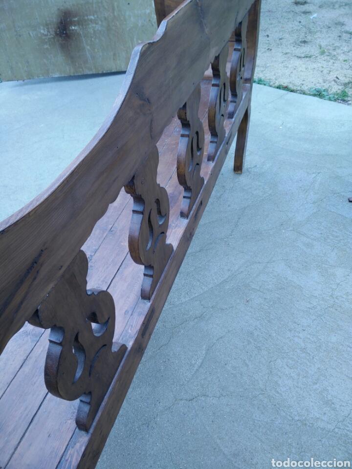 Antigüedades: Banco tallado - Foto 3 - 142139128