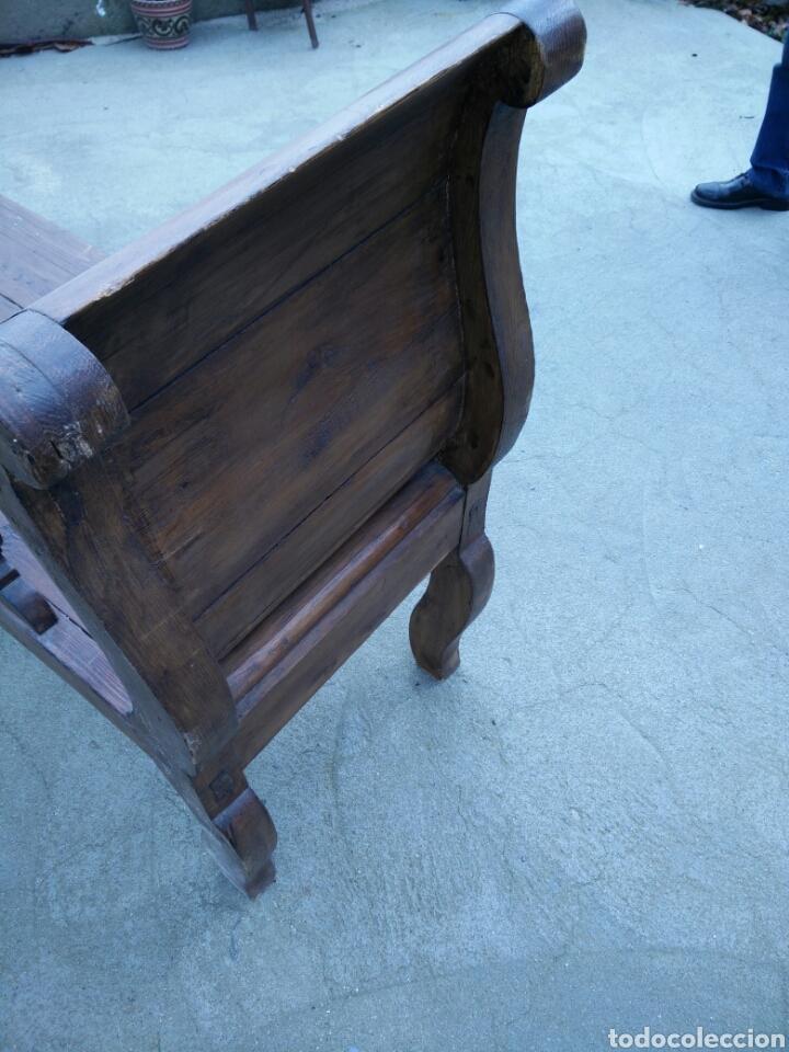 Antigüedades: Banco tallado - Foto 4 - 142139128