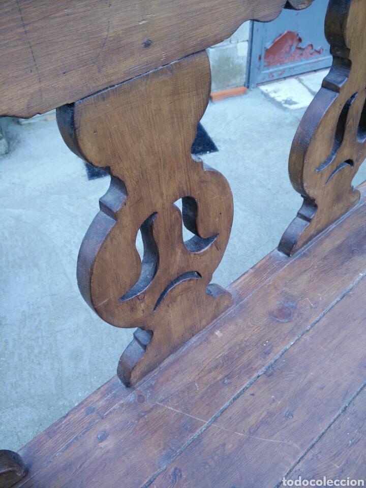Antigüedades: Banco tallado - Foto 5 - 142139128