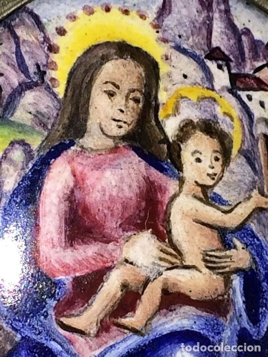 Antigüedades: RELICARIO-MEDALLÓN. IMAGEN DE LA VIRGEN DE MONTSERRAT. PLATA. ESMALTE. ESPAÑA. XVIII-XIX - Foto 3 - 142156254