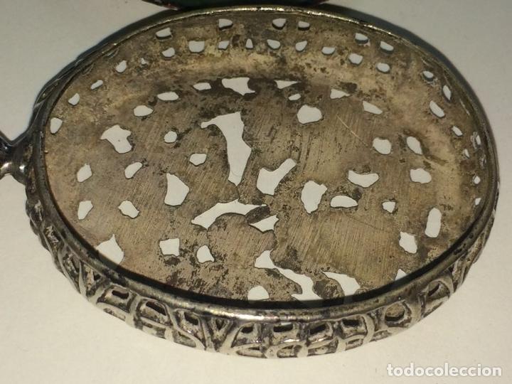 Antigüedades: RELICARIO-MEDALLÓN. IMAGEN DE LA VIRGEN DE MONTSERRAT. PLATA. ESMALTE. ESPAÑA. XVIII-XIX - Foto 9 - 142156254