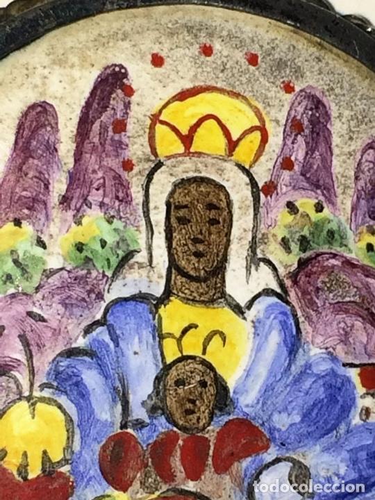 Antigüedades: RELICARIO-MEDALLÓN. VIRGEN DE MONTSERRAT. PLATA. COBRE ESMALTADO. ESPAÑA. XVIII-XIX - Foto 10 - 142170426