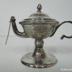 Antigüedades: CANDIL, VELÓN BAÑO DE PLATA - ALPACA PLATEADA - AÑOS 50. Lote 142171270