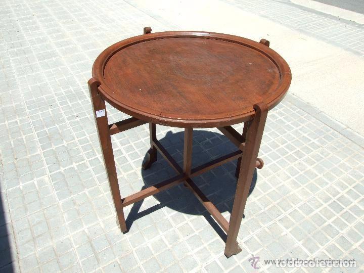MESA INGLESA PLEGABLE-DESMONTABLE (Antigüedades - Muebles Antiguos - Veladores Antiguos)