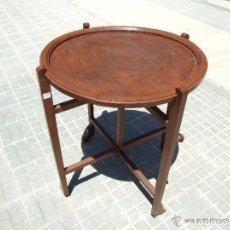 Antigüedades: MESA INGLESA PLEGABLE-DESMONTABLE. Lote 142173182