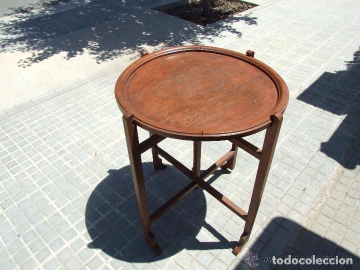 Antigüedades: MESA INGLESA PLEGABLE-DESMONTABLE - Foto 2 - 142173182