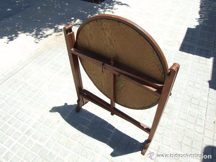 Antigüedades: MESA INGLESA PLEGABLE-DESMONTABLE - Foto 3 - 142173182
