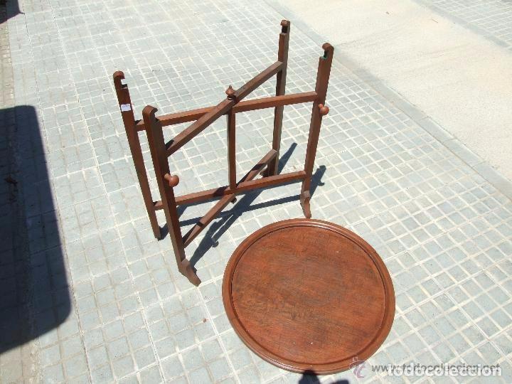 Antigüedades: MESA INGLESA PLEGABLE-DESMONTABLE - Foto 5 - 142173182