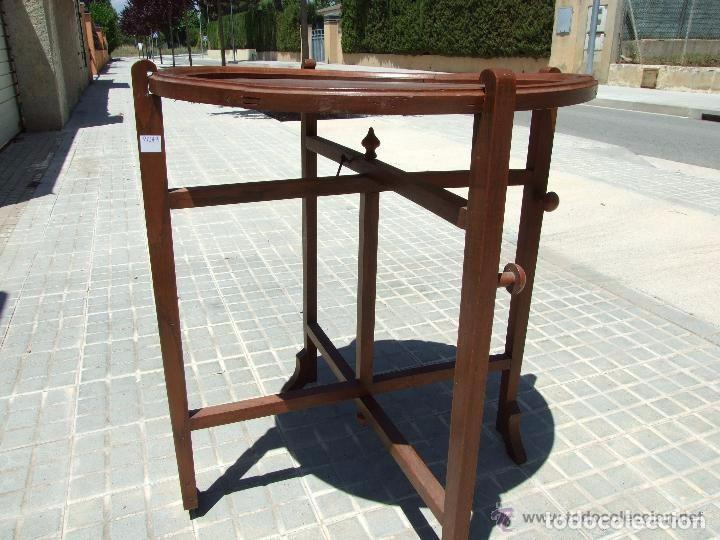 Antigüedades: MESA INGLESA PLEGABLE-DESMONTABLE - Foto 6 - 142173182