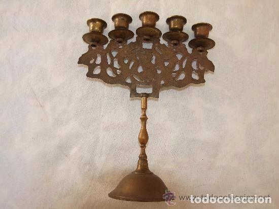 Antigüedades: CANDELABRO 5 LUCES, BRONCE - Foto 3 - 142174326