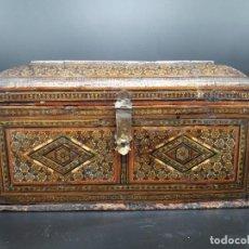 Antigüedades: CAJA DE MARQUETERIA PERSA. Lote 142176862