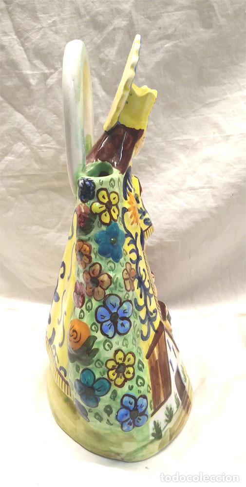 Antigüedades: Virgen de los Desamparados Valencia años 60, Botijo Porcelana Manises. Med. 28 cm altura - Foto 2 - 142181294