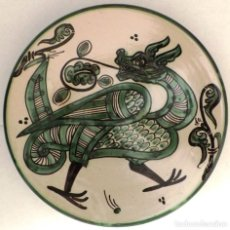 Antigüedades: CERÁMICA TERUEL DE DOMINGO PUNTER PLATO. Lote 142201670