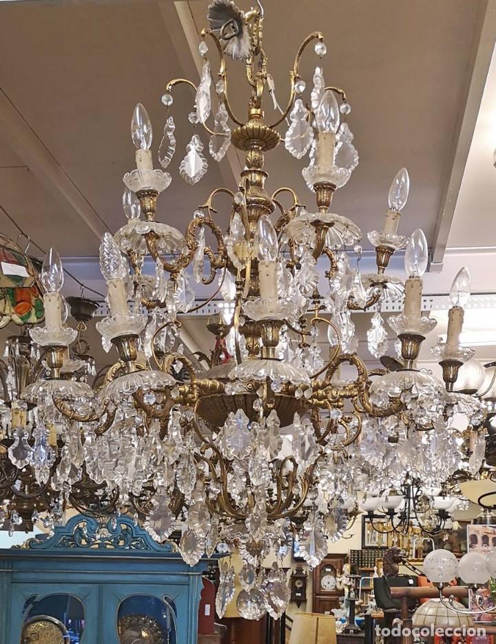 LAMPARA DE TECHO 15 LUCES. (Antigüedades - Iluminación - Lámparas Antiguas)