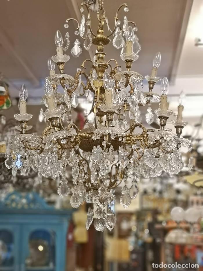 Antigüedades: Lampara de techo 15 luces. - Foto 2 - 142203306
